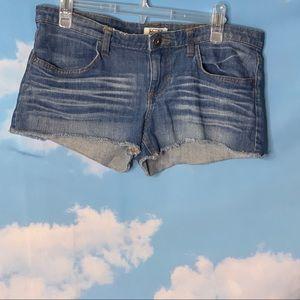 Mudd- Raw Hem Denim Shorts size 11